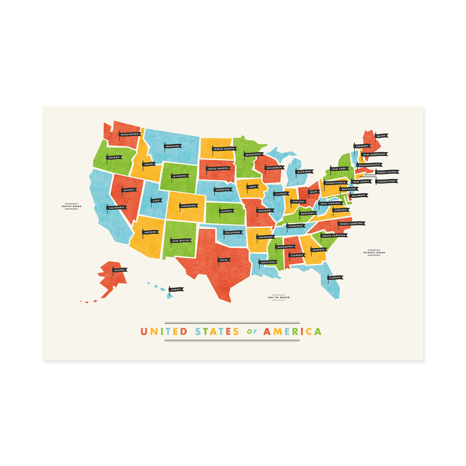 Fifty States Map These Are Things Touch Of Modern