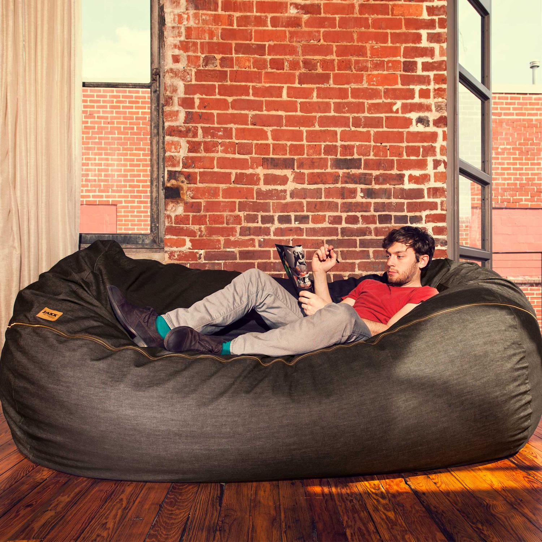 - Denim Bean Bag Sofa // 7' - Jaxx Denim - Touch Of Modern