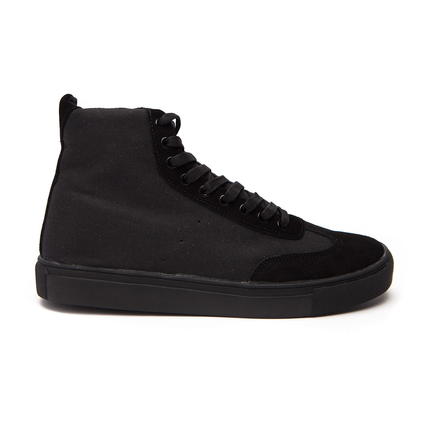 8d39a3491202f1 Champion Canvas + Suede High Top Sneaker    Black (US  7) - Generic ...