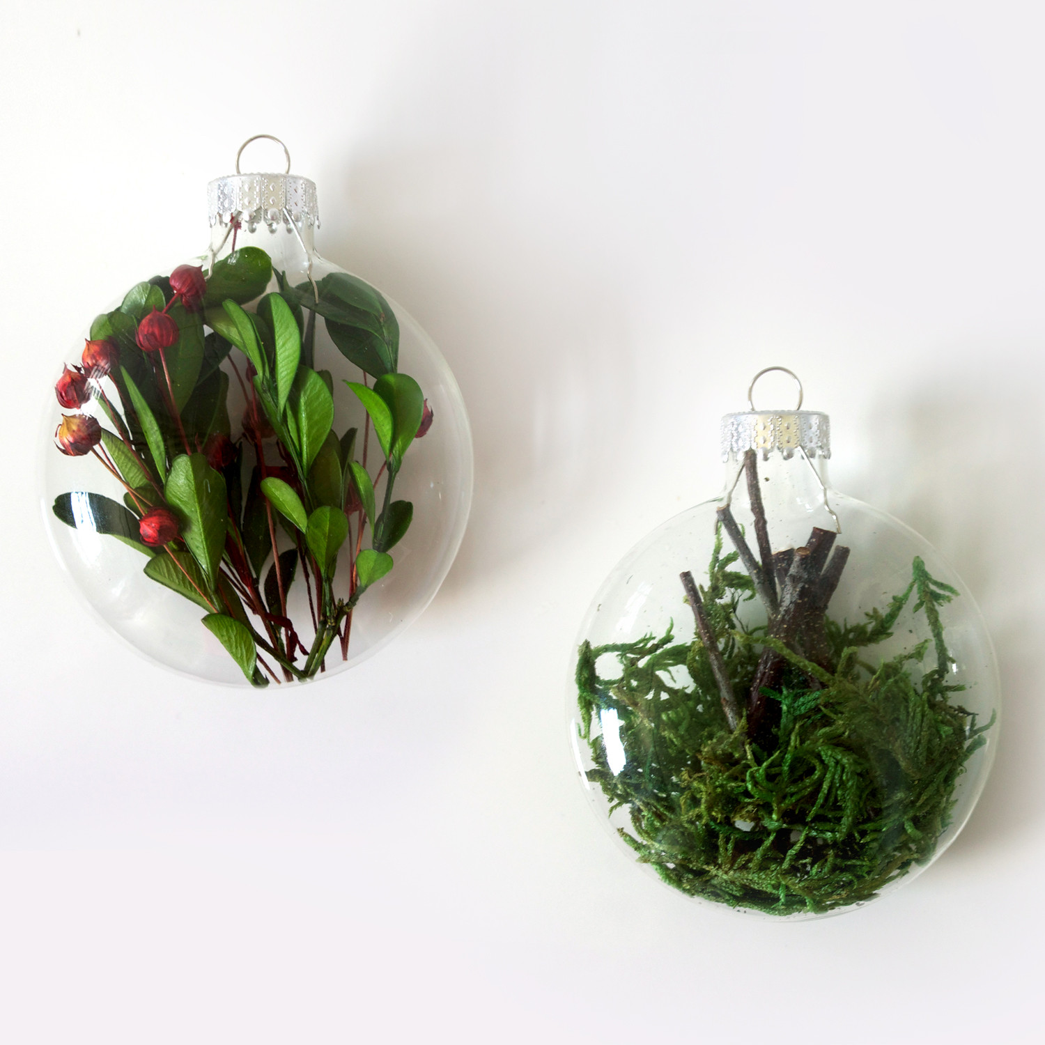 Tree Decor Ornament Set Moss Twig Touch Of Modern