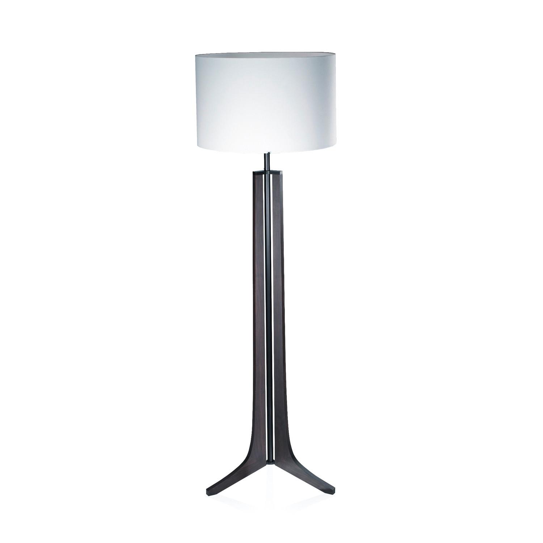 Forma led floor lamp dark stained walnut black for Designer led floor lamp