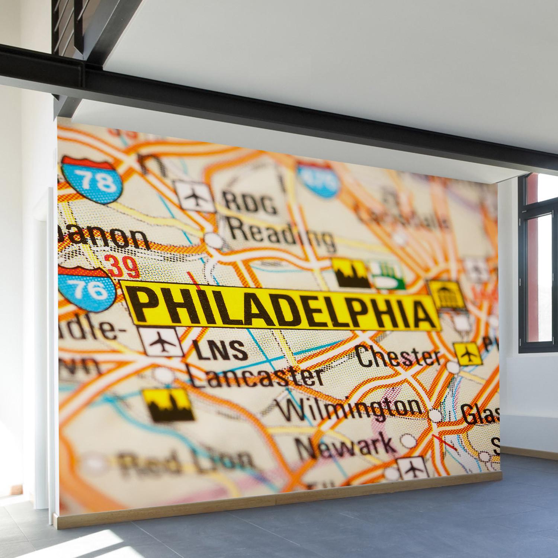 Philadelphia Wall Mural Decal (100\