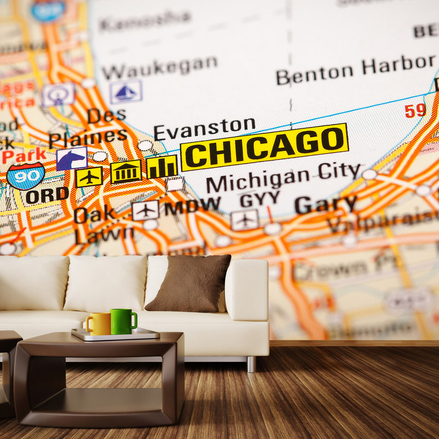 chicago map wall mural decal 100 chicago map wall mural decal 100