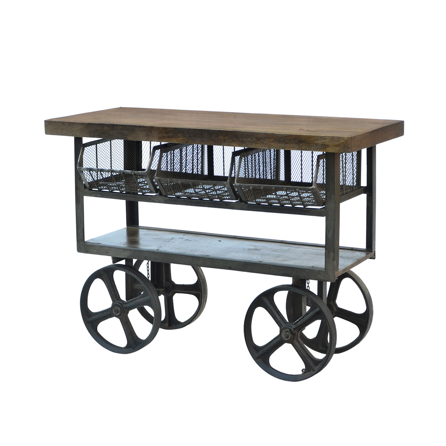 Industrial Iron Trolley