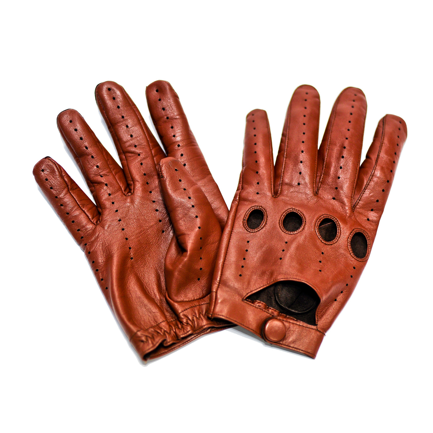 Leather driving gloves bulk - Driver Touch Screen Glove Cognac Small