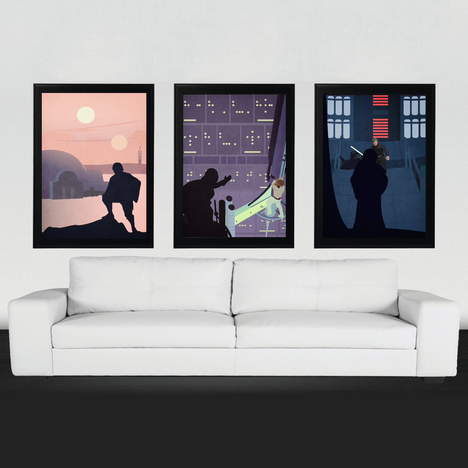 A Hero\'s Quest // Set of 3 - Star Wars Posters - Touch of Modern
