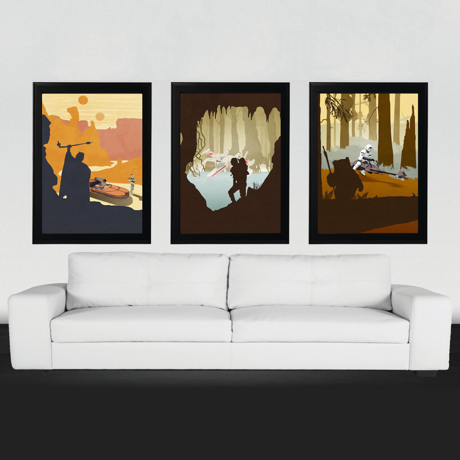 The Original Three // Set of 3 - Star Wars Posters - Touch of Modern