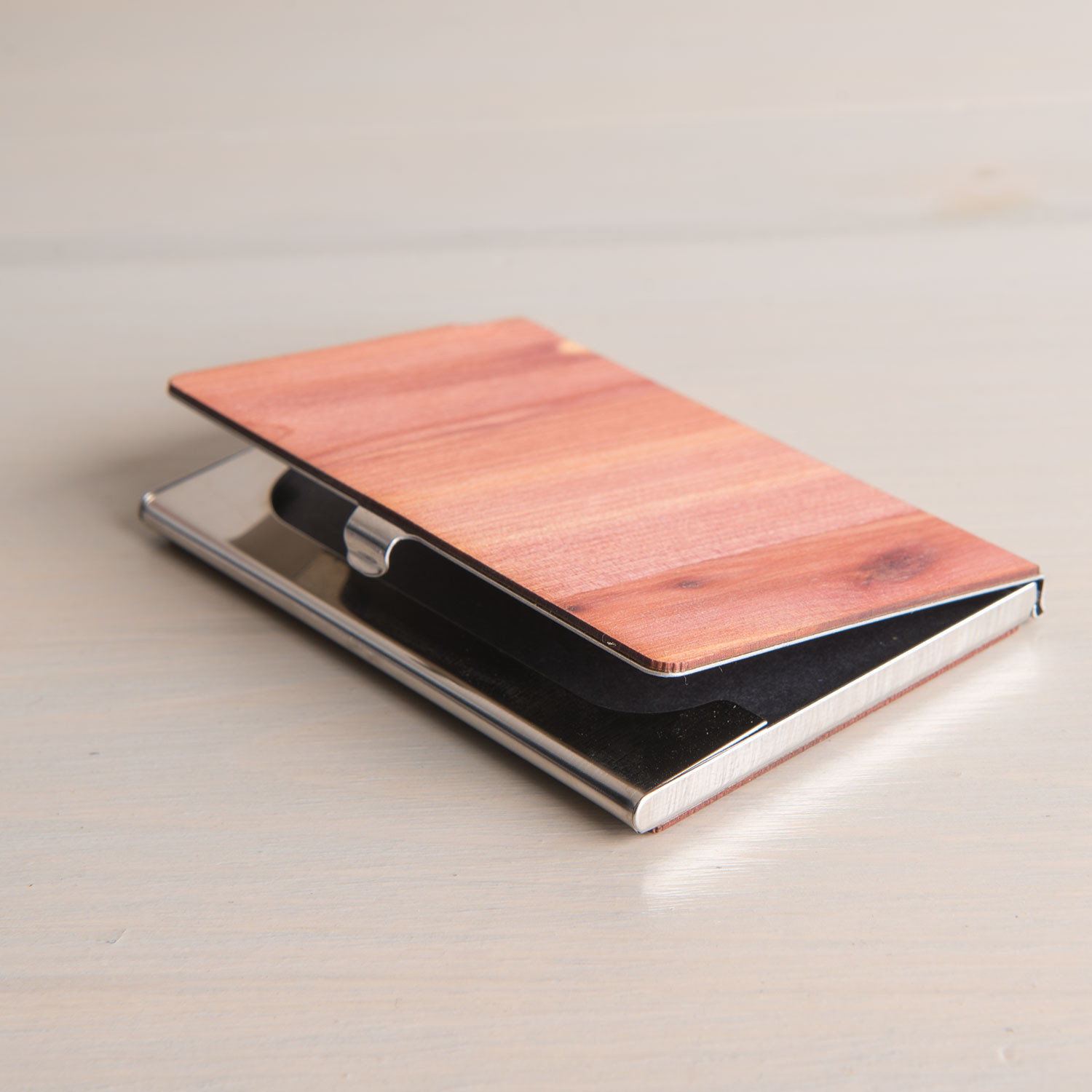 Real Wood Business Card Holder (cedar)