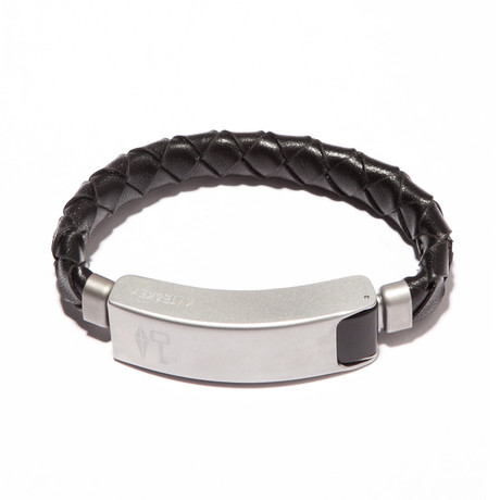 Braided Leather Cabelet MAC // Black (Small)
