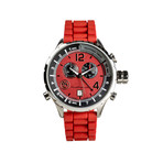 Yachting // Red Dial + Red Earth Crown