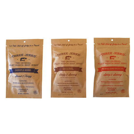 Filet Mignon Jerky // Set van 3 // Variety Pack
