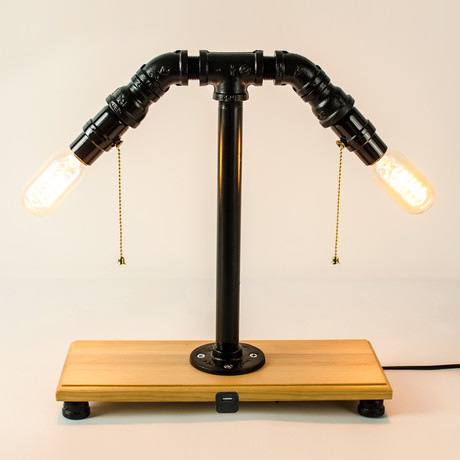 table lamp with built in usb black. Black Bedroom Furniture Sets. Home Design Ideas