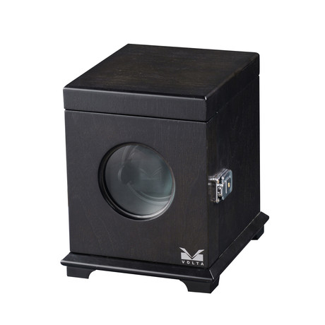 Single Square Watch Winder (Rustic Brown)