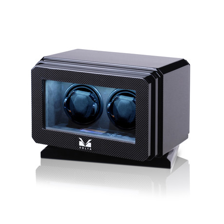 Double Watch Winder (Carbon Fiber + Black)