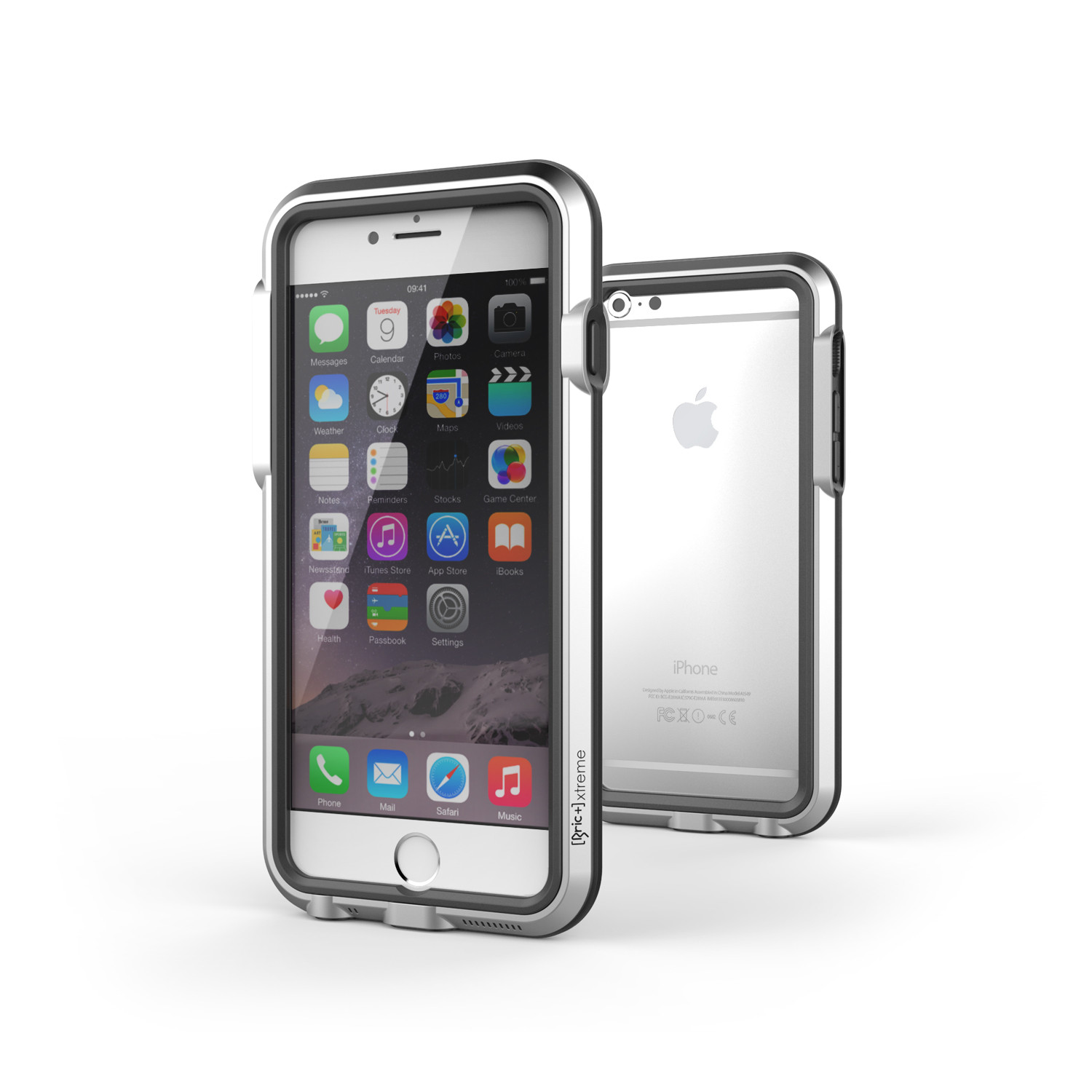 iphone 6 case silver black bricwave touch of modern. Black Bedroom Furniture Sets. Home Design Ideas