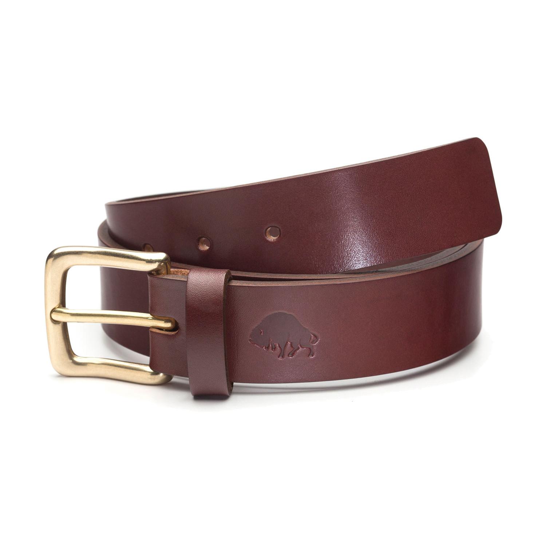 no 1 bridle leather belt burgundy brass