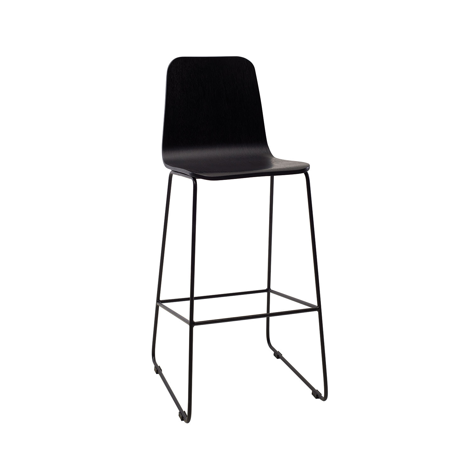 Phenomenal Agnes High Back Barstool Black Ash Urbn Touch Of Modern Gamerscity Chair Design For Home Gamerscityorg