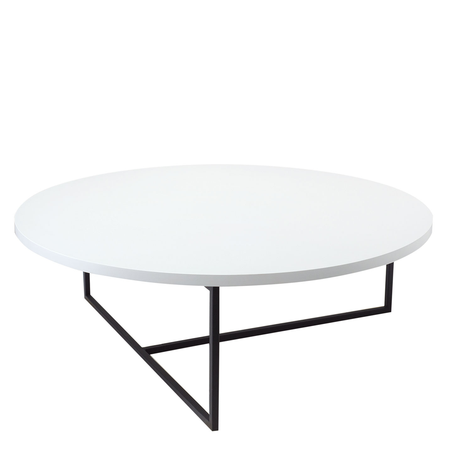 Dolf Round Coffee Table Walnut URBN Touch of Modern