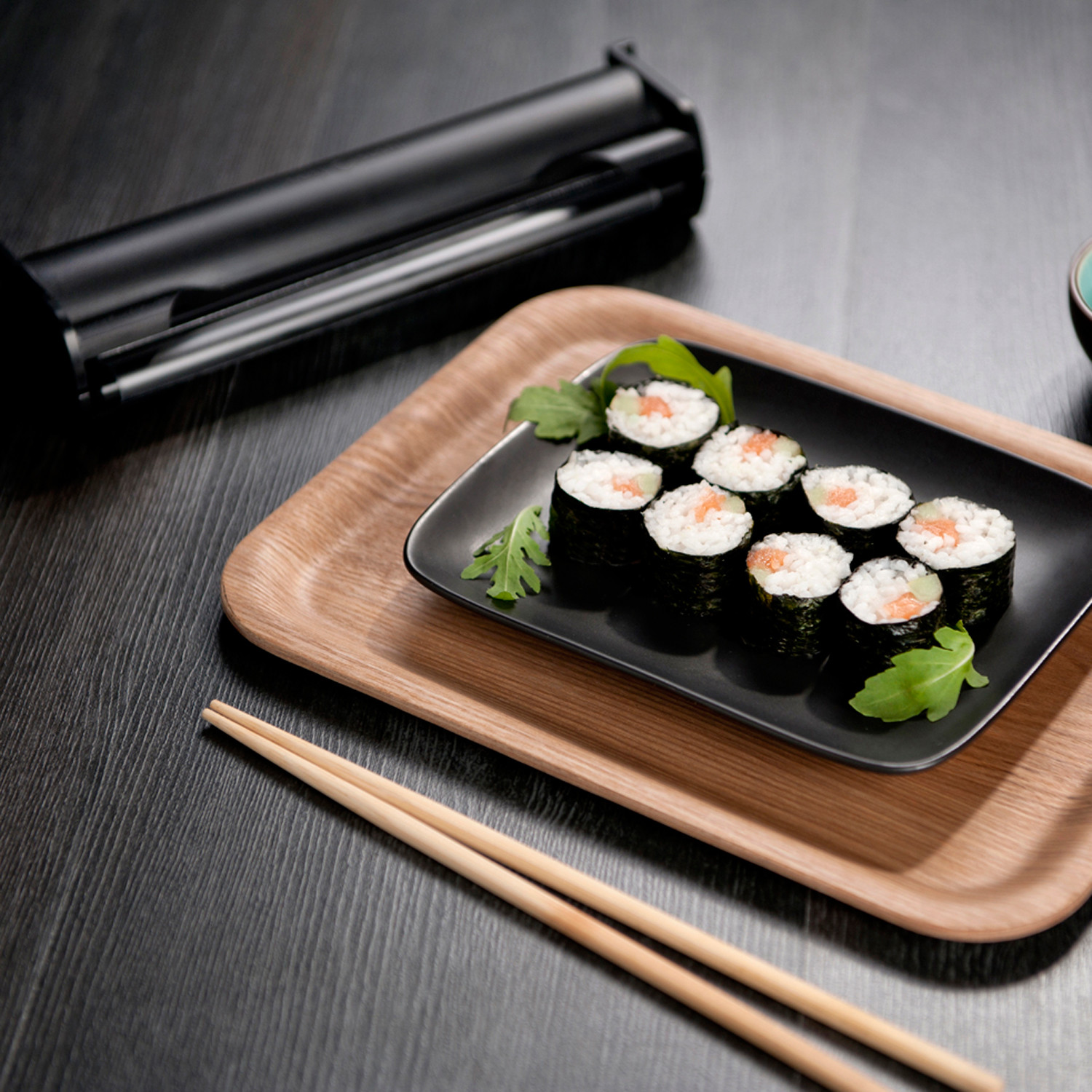 Easy sushi set medium roller recipe booklet easy for Modern house sushi 9 deler sett