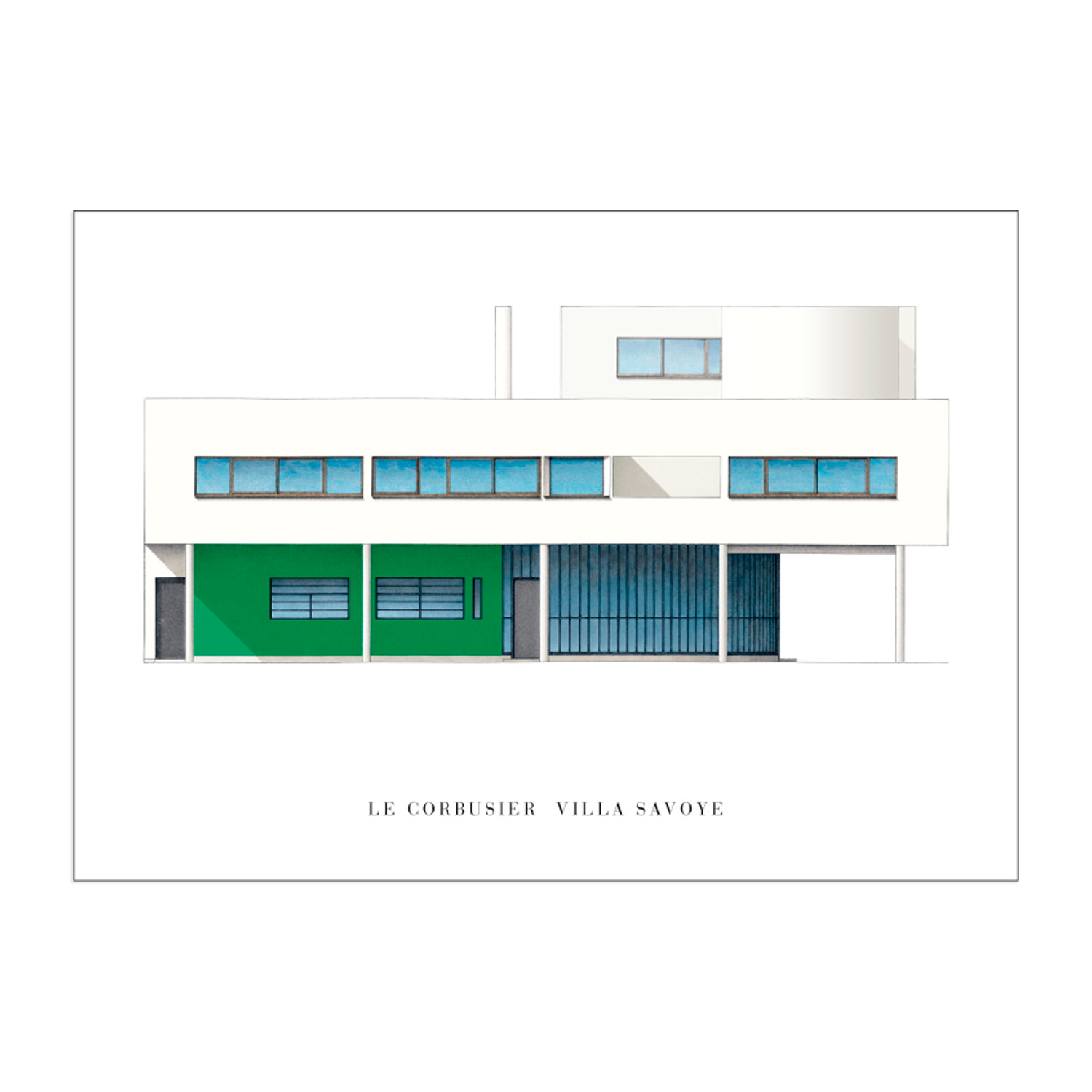 Le Corbusier, Villa Savoye // Small - Edition Lidiarte - Touch of ...