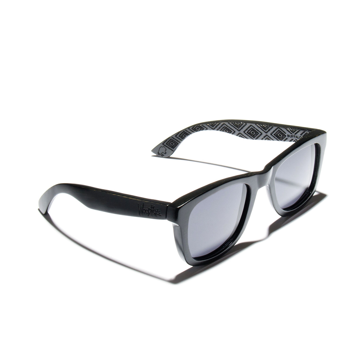 44e6f42b8f Buffalo Sunglasses    Black Bamboo (Polarized Bahama Mirror Blue ...