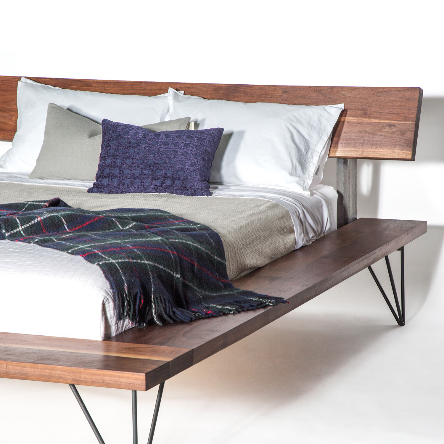 Walnut Railcar Bed Queen