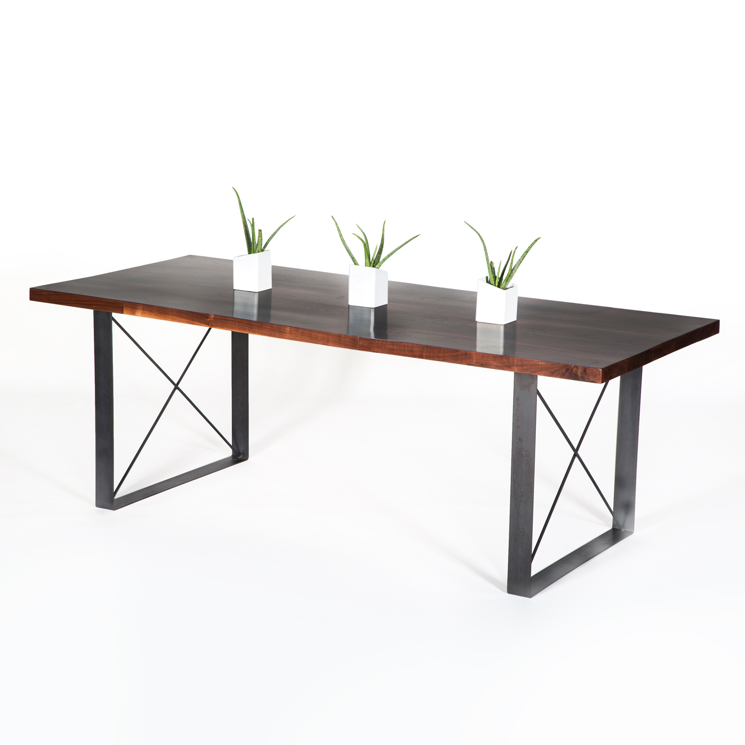 Walnut Railcar Dining Table Croft House Touch of Modern