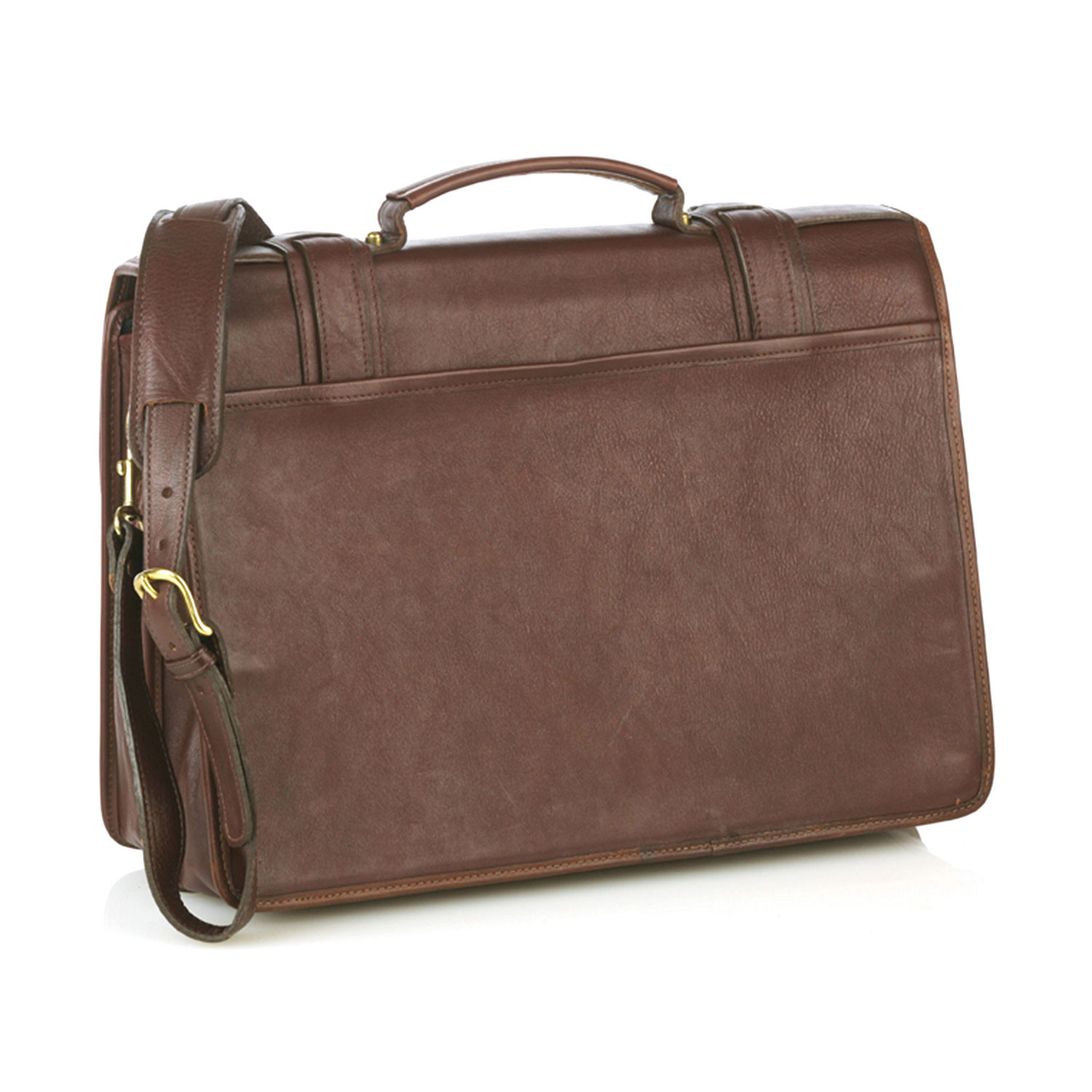 Double Compartment Briefcase With Laptop Insert Black