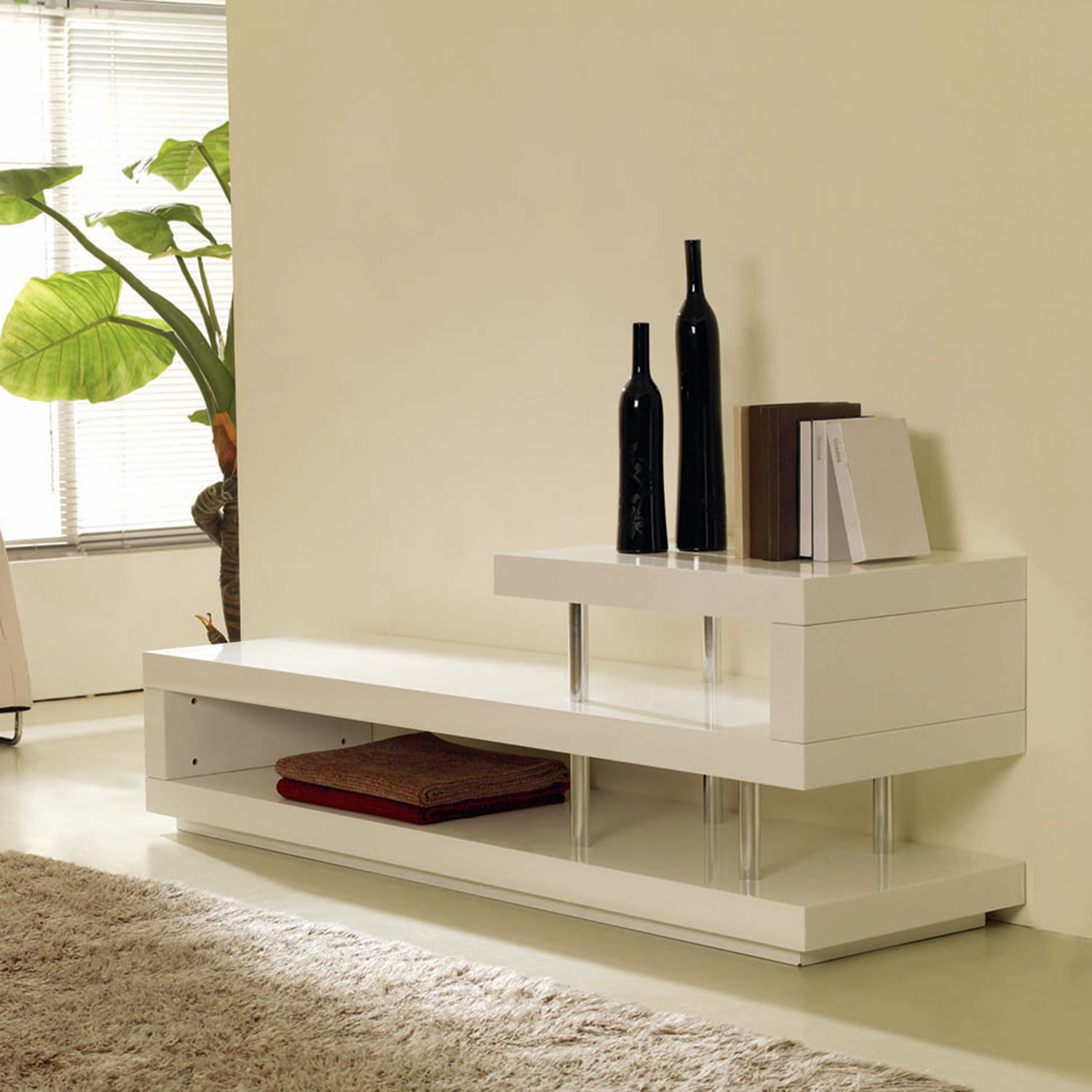 Win 5 Lacquer Tv Stand White Vig Furniture Touch Of Modern