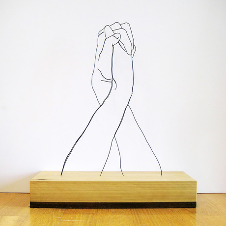 Wire Sculpture // Hands Clasped