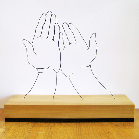Wire Sculpture // Hands Supplicated
