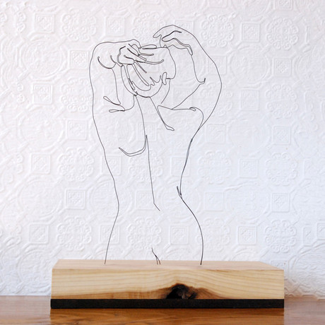 Wire Sculpture // Her Back