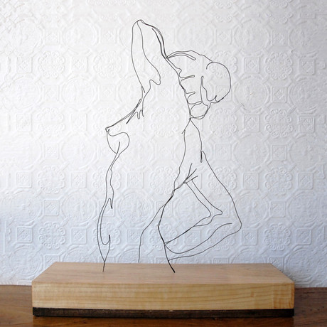 Wire Sculpture // Morning Pose