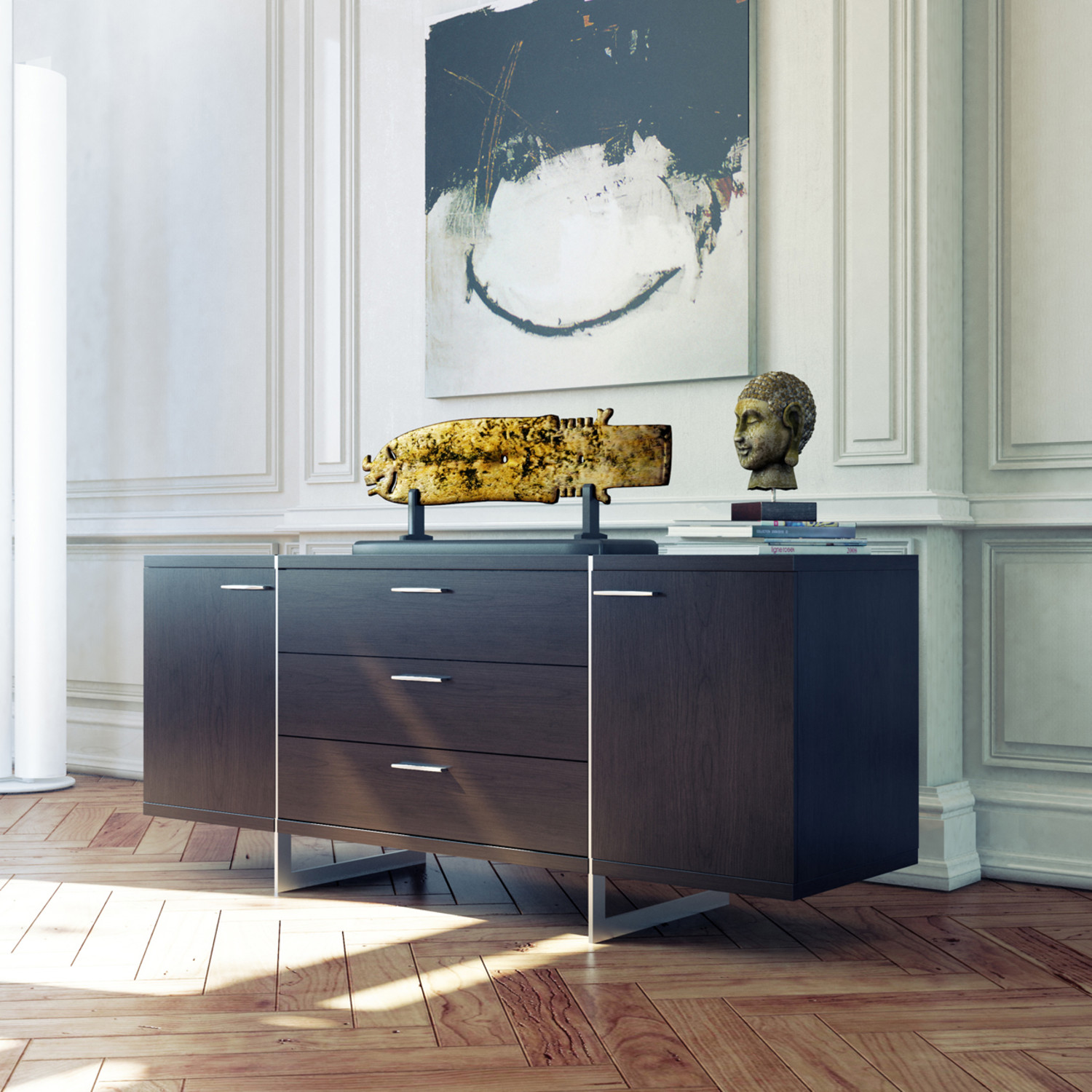 Greenwich Sideboard White Lacquer Greenwich Sideboard White