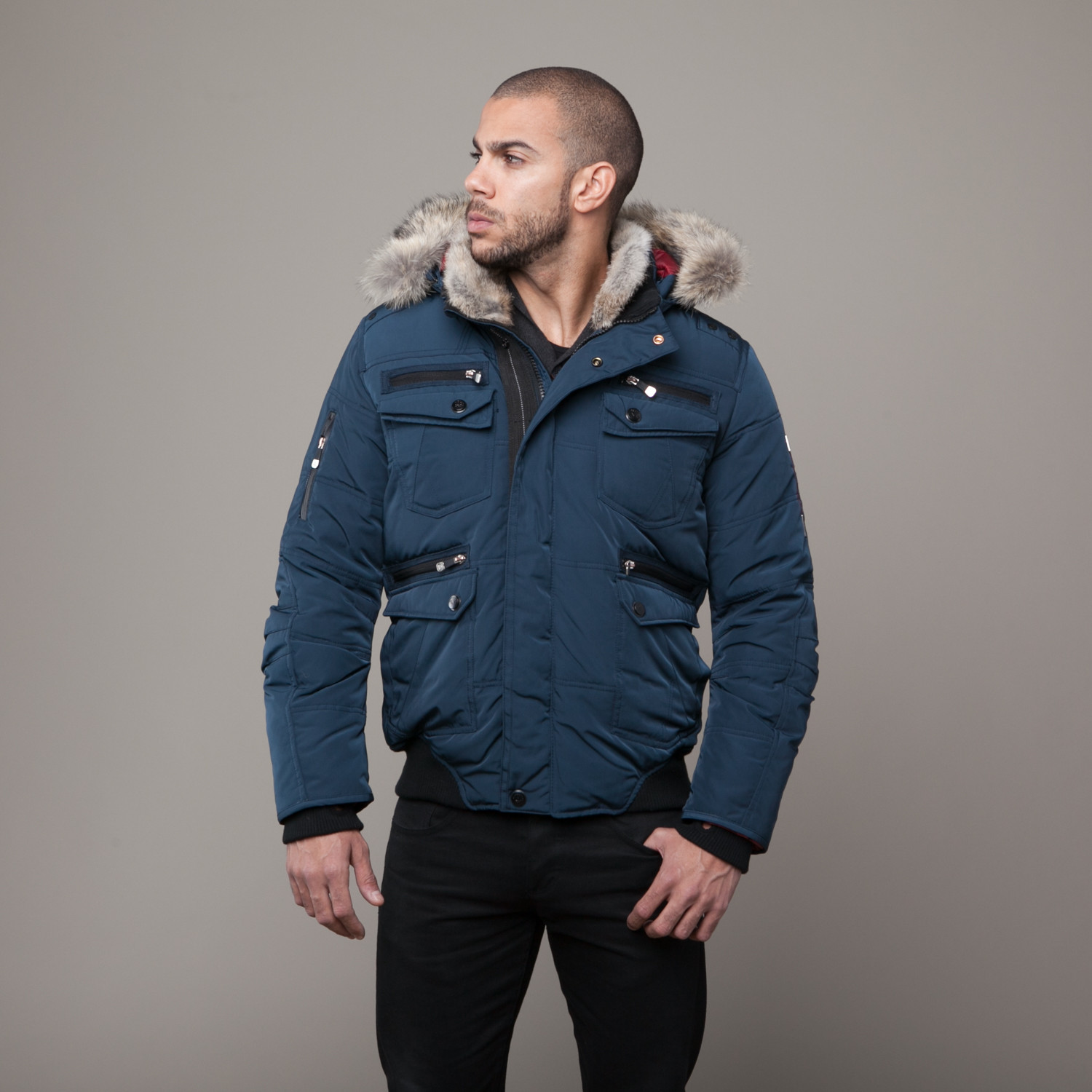 Oxford Down Bomber Jacket // Galaxy (XL) - Point Zero - Touch of