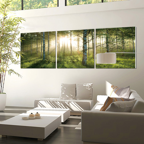 "Enchanted Forest/Sunlight in The Forest (Set of 3 - 60""W x 20""H x 1""D)"