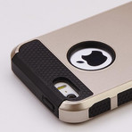 Gold Rugged Soft & Hard Case // Black (iPhone 5, 5S)