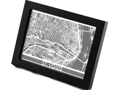 Photo of Cut Maps Stainless Steel Cities St. Louis by Touch Of Modern