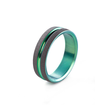 Gezandstraald handtekening Ring // Green