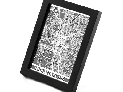 Cut Maps Stainless Steel Cities Indianapolis by Touch Of Modern - Denver Outlet
