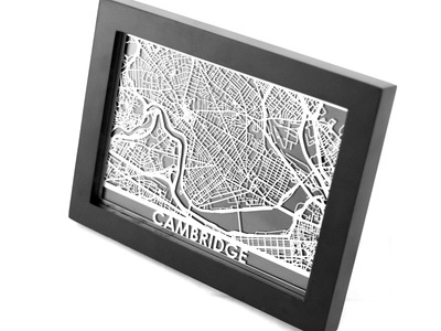 Photo of Cut Maps Stainless Steel Cities Cambridge by Touch Of Modern