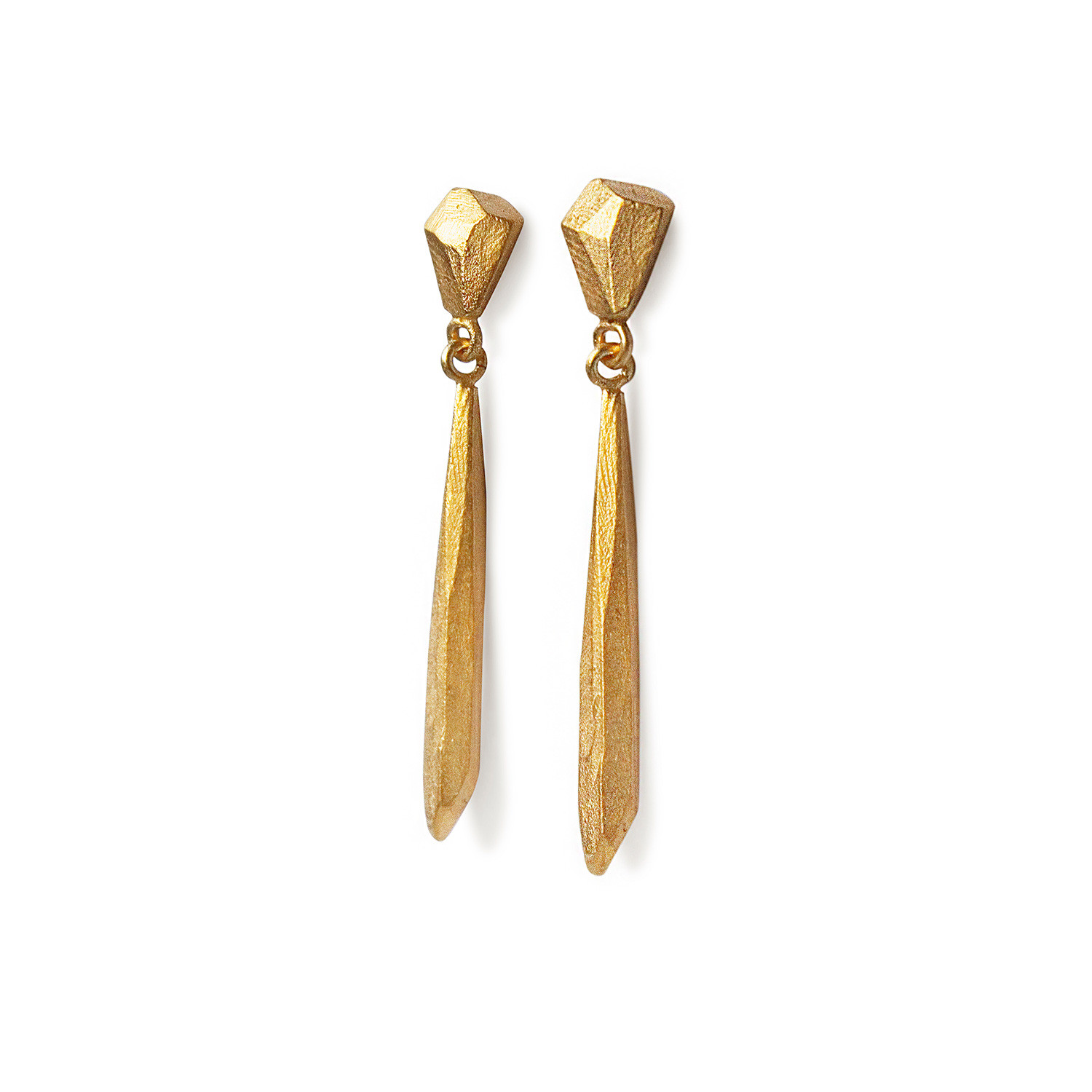 Long Amulets Earrings Gold