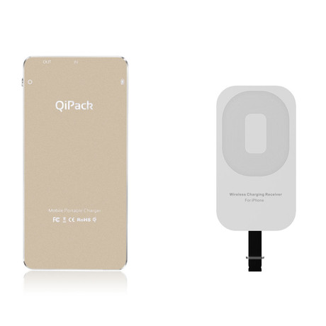 QiPack Wireless Charger // iPhone // Gold