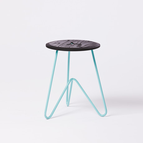 Low Stool // Black (Seafoam)