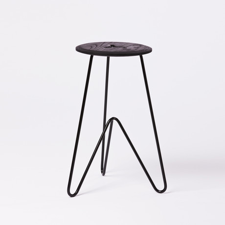 High Stool // Black (Seafoam)