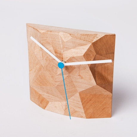 "6"" Block Clock // Maple"