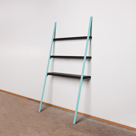 Leaning Shelf // Black (Seafoam)