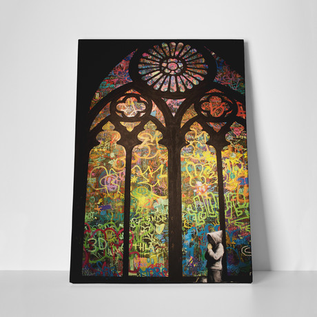 "Street Art Cathedral (16""W x 20""H)"