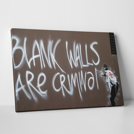 """Blank Walls (20""""W x 16""""H)"""