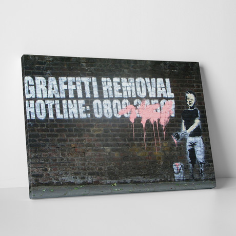 "Graffiti Removal Hotline (20""L x 16""H)"